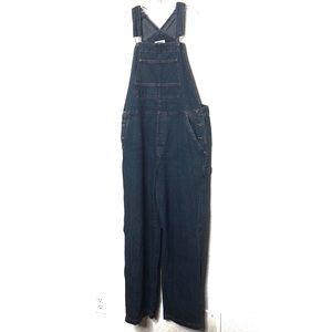 Cherokee dark denim overalls size large